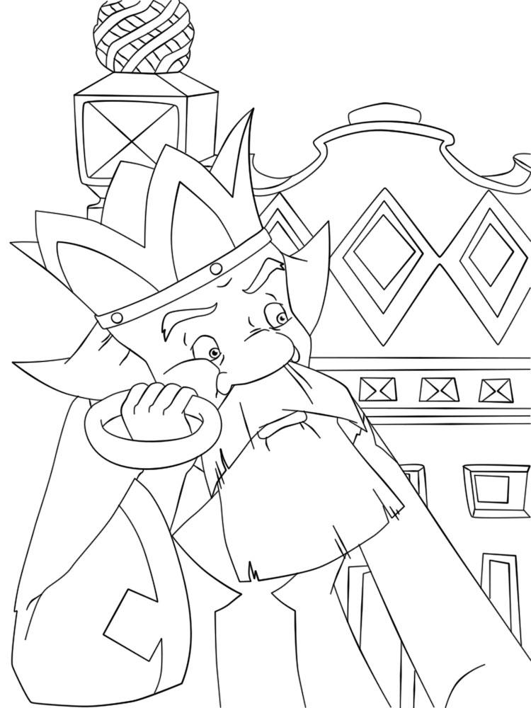 Coloring coloring pages the tale of Ivan Tsarevich and the Grey Wolf king