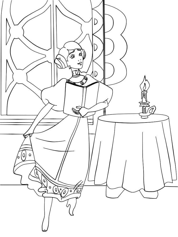 Coloring coloring pages the tale of Ivan Tsarevich and the Grey Wolf  princess
