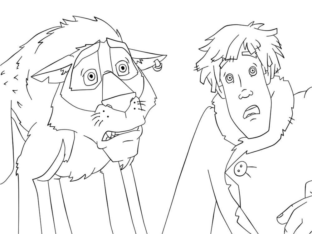 Coloring coloring pages the tale of Ivan Tsarevich and the Grey Wolf Ivan and the Wolf