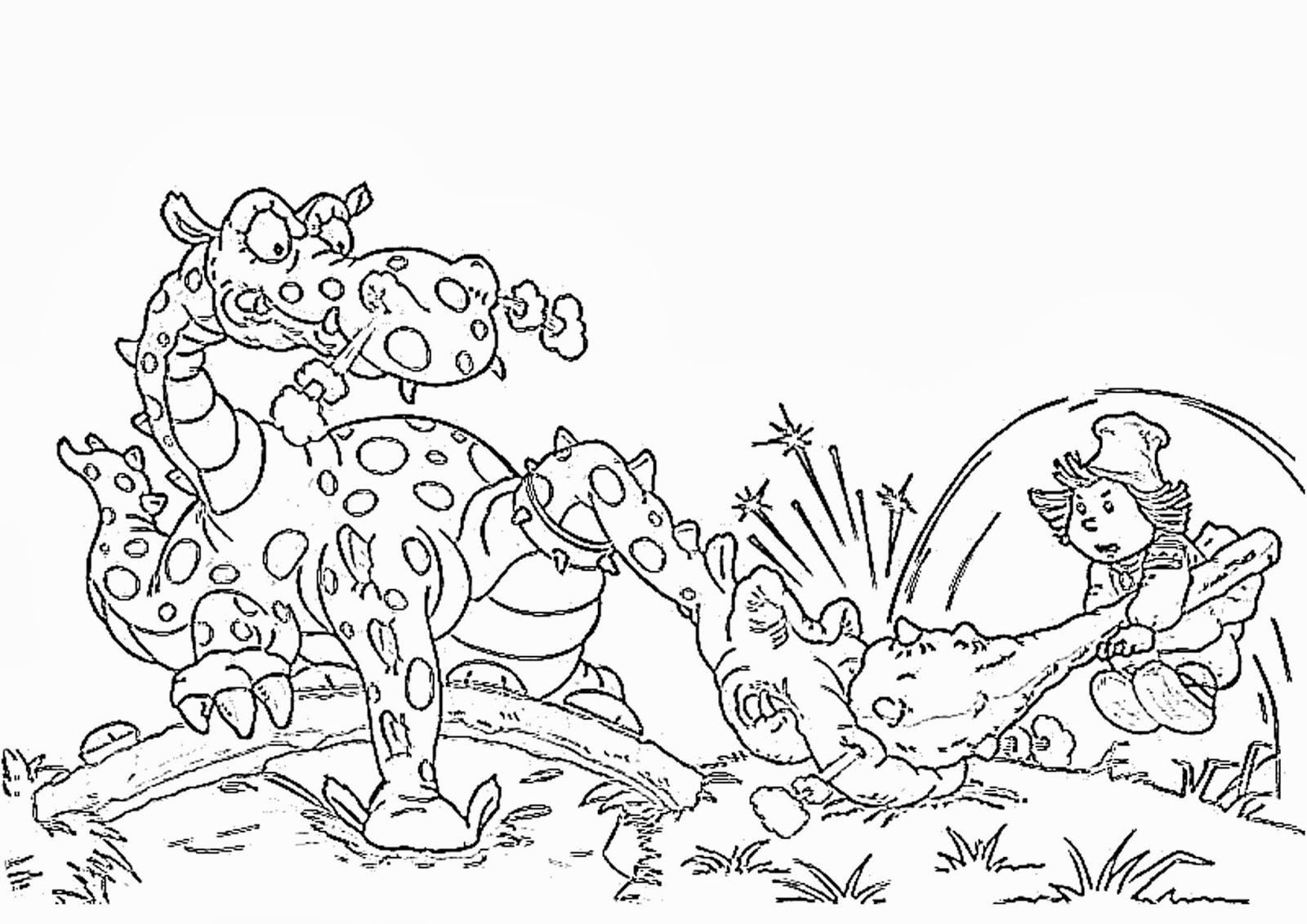 Розмальовки розмальовки Іван-селянський син і чудо-юдо іван і диво юдо, селянський син, розмальовки