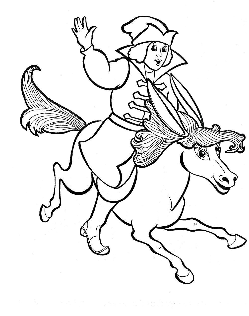 Coloring coloring pages the fairy tale The Little Humpbacked Horse horse humpback and Ivan, coloring pages on the story